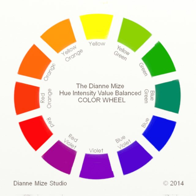 Dianne Mize Color Wheel In The Studio With