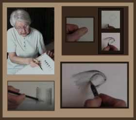 gradating with pencil